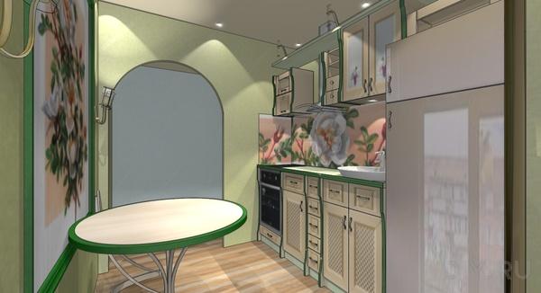 Эко-стиль для кухни площадью 5 кв.м.