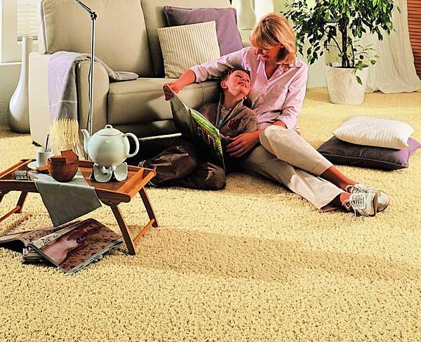 Интерьер с ковровыми покрытиями