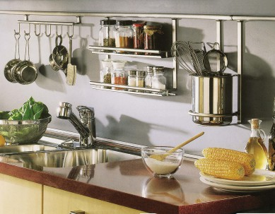 Использование рейлингов на кухне