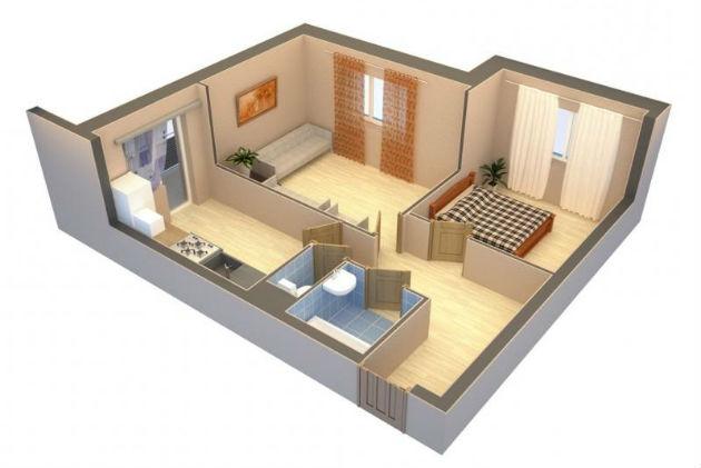Как правильно организовать пространство в однокомнатной квартире