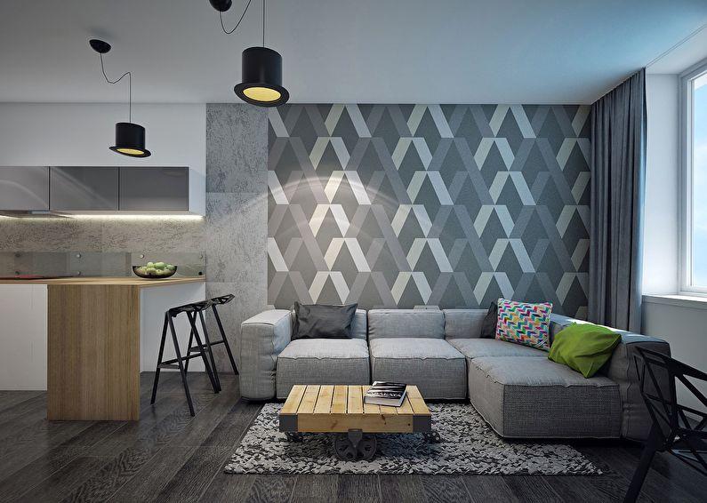 Использование серого цвета в дизайне интерьеров