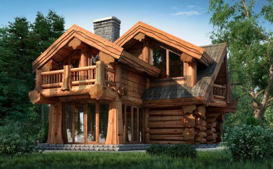 Рубленные дома: особенности и преимущества